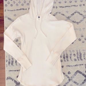 Abercrombie Cream Thermal Waffle Knit Hoodie XXS